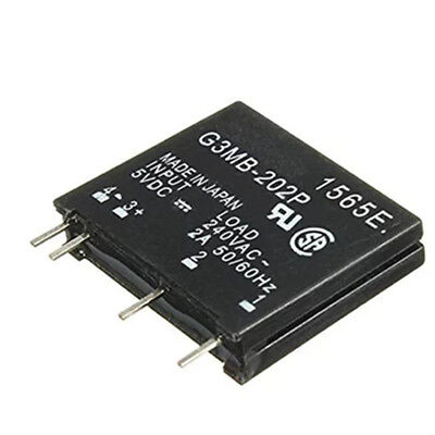 1 Pcs G3MB-202P Solid State Relay Module Input 5V DC Output 240V AC 2A SSR G0