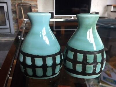 Vintage Rye Pottery Cinque Ports Salt and Pepper - Surrey Ceramics Style