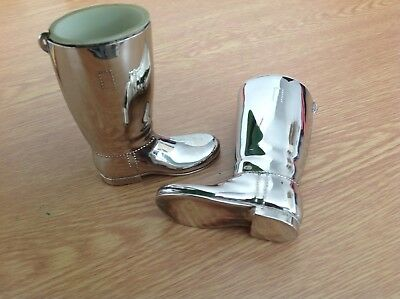 WELLINGTON BOOT silver plated salts