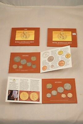 1986 Australian Mint Uncirculated Coin Collection - Int'l Year of Peace - 2 Sets