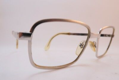 Vintage 60s eyeglasses frames white gold filled RODENSTOCK 1-20 12K Germany