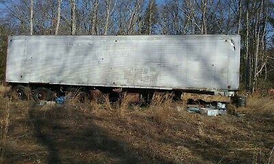 Two 40 Foot Box Storage Trailers