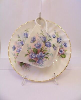 Vintage Royal Stewart Fine Bone China Tea Cup And Saucer Set Made In England
