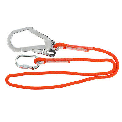25KN Climbing/Construction 12mm Fall Arrest Safety Lanyard with Snap Hook
