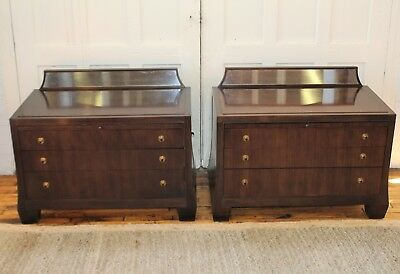 """Barbara Barry for Henredon Reflection Nightstands """"Realized"""" Collection Pair"""