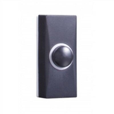 Byron 7900 Wired Doorbell Additional Chime Bell Push, Black