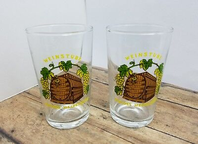 Weinstube Schloss-Heidelberg Collectible Beer Glass Beer Tasting Set of 2