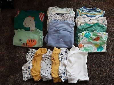 Baby Boys Sleepsuits And Vests Bundle 6-9months