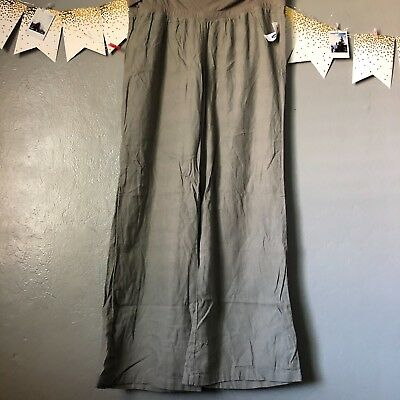 Old Navy Maternity Rollover Waist Linen Blend Pant-Olive Green-XL- NWT