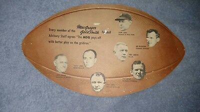 Vintage Football 1940s MacGregor Goldsmith ADVERTISING SPORTING GOODS Store Sign