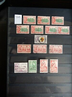 Super Selection of Sarawak KGVI Used Issues x15 - Lot 3