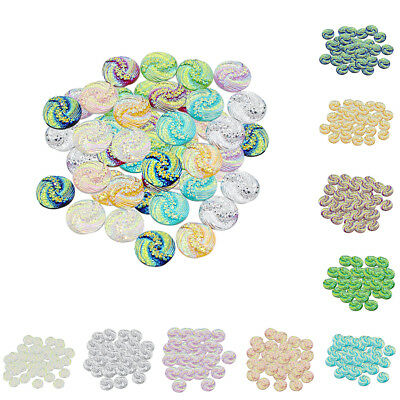 50x Round Resin Flatback Cabochon Buttons for Jewelry Making Crafts 12mm