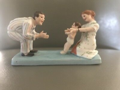 "NORMAN ROCKWELL Museum ""Baby's First Step"" Figurine -1983 EUC"