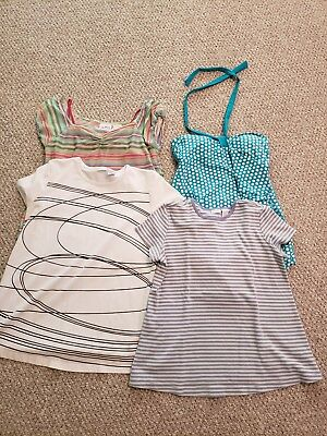 maternity summer lot shirts and swimsuit small and medium