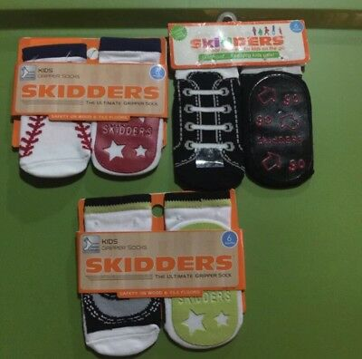 3 Skidders Gripper Socks 6 Months Shoe Size 2 Safety On Wood And Tile Floors