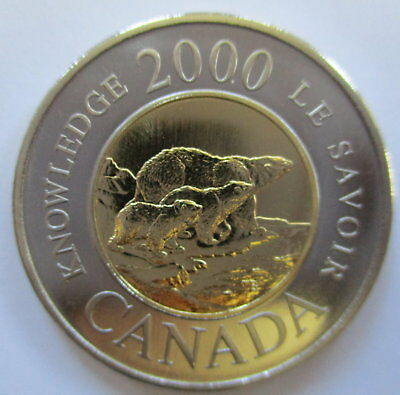 2000 Canada $2 Dollar Knowledge Specimen Toonie Coin