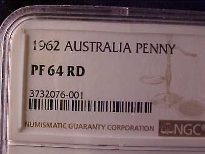 Australia One Penny 1962 Ngc Proof 64 Red
