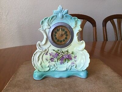 Antique Porcelain Case Mantle Clock