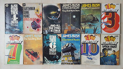 Collection of 12 Vintage James Blish Books inc. Star Trek - Sci-fi