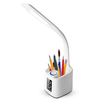 Dimmable Led Desk Lamp With USB Charging Port Pen Holder Touch Dimmer Switch 3