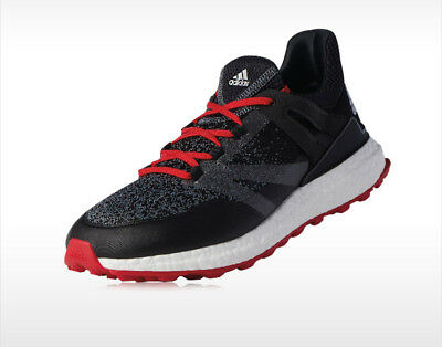 check out 45120 ce929 adidas CROSSKNIT BOOST Men s Golf Shoes Adiwear Equipment Black Red Q44684