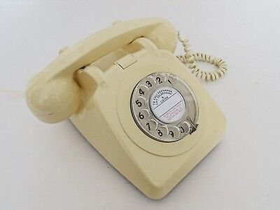 VINTAGE 1980s IVORY / CREAM GPO TELEPHONE 706F - Fully converted - Exceptional