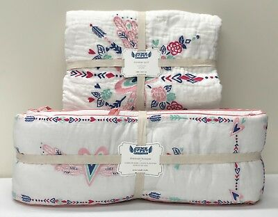 NEW Pottery Barn KIDS Junk Gypsy Country Blooms Baby Crib Quilt &  Bumper Set
