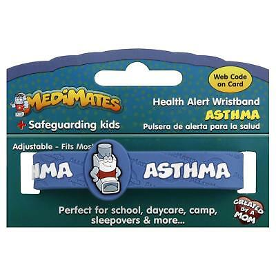 3 Pack MediMates Health Alert Wristband - Asthma - Packaging May Vary - New