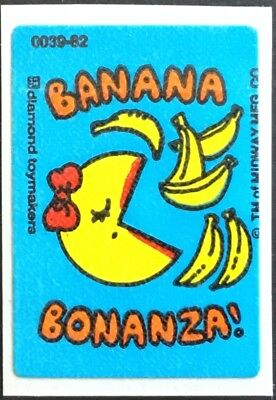 Vintage Scratch & Sniff Stickers - Ms. Pac Man - Banana #5 - Mint!!