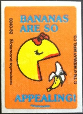 Vintage Scratch & Sniff Stickers - Ms. Pac Man - Banana #2 - Mint!!