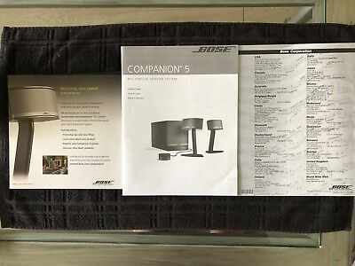 Bose Companion 5 Multimedia Speaker System OriginalManual ,Service, Intro Data