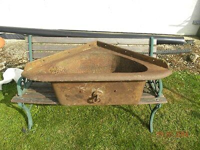 antique  cast iron feed trough/planter