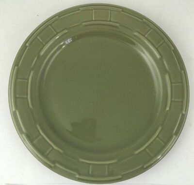 """LONGABERGER Pottery Woven Traditions 10"""" Dinner Plate Sage FREE SHIPPING!"""