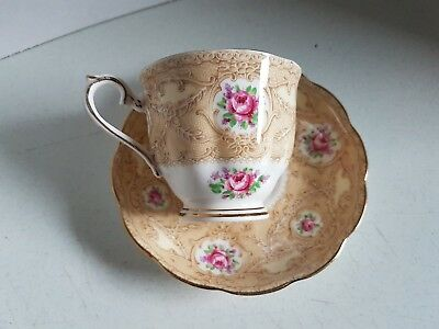 Vintage Cup and Saucer Tea Cup Set Bone China Royal Albert Devonshire Lace