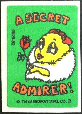 Vintage Scratch & Sniff Stickers - Ms. Pac Man - Rose #2 - Mint!!