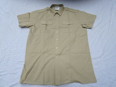 Shirt Mens Fawn, Short Sleeve, ALL RANKS , Service Shirt,Short Sleeve,Size 42