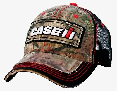 Case IH Distressed Camo Black Mesh Back Youth Hat