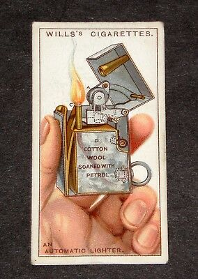 rare 1920's wills's art deco internal view automatic petrol lighter tobacco card