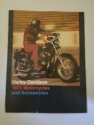 1973 Harley Davidson Motorcycles and Accessories Catalog, Harley Davidson of...