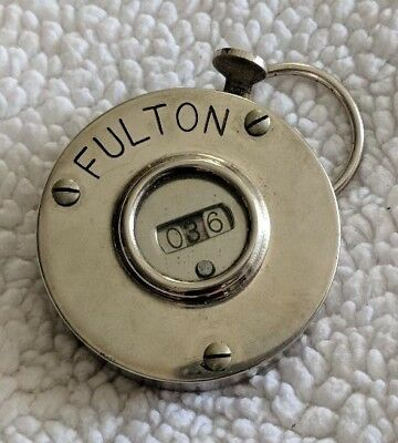 Vintage Fulton Precision Counting Machine Used For Railroad Passenger Counting