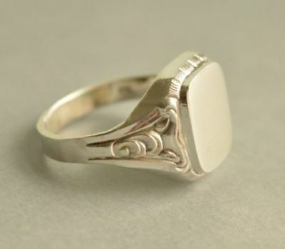 0334b18d0 ART DECO VINTAGE 835 Solid Silver Men Women Signet Ring Size V 1/2, US 11 -  £66.00 | PicClick UK