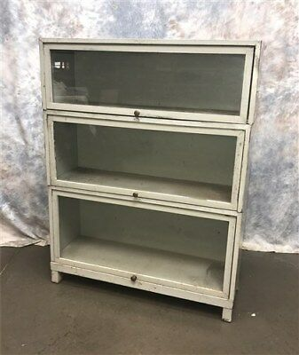 Vintage Stackable Barrister Bookcase, Lawyer Bookcase, Industrial Bookcase