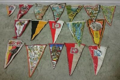 Vintage Ship's Stitched Bunting String Flags Sailing Boats Naval