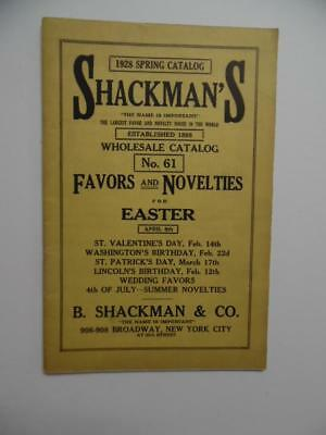 1928 Shackman & Co Catalog Party Favors Decoration Easter Valentine Day Vintage