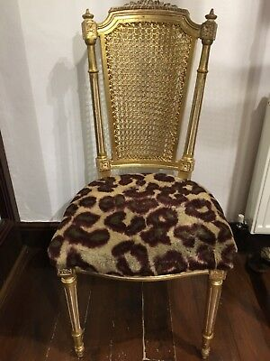 Vintage Louis Regency French Style Chair Gold Label Leopard Vivienne Westwood