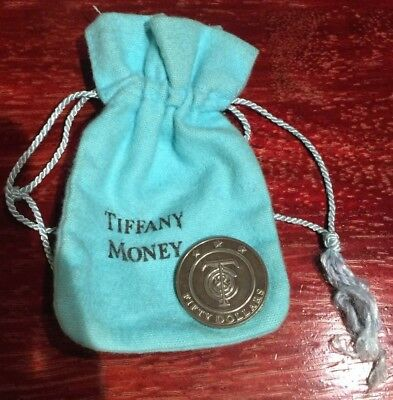 Tiffany Co Sterling Silver Money Redeemable Merchandise Coin Gift Token $50