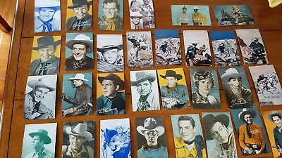 Lot Of 30 Vintage Western Arcade Cards Lone Ranger And Others