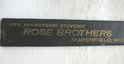 Vintage Rose Brothers Marshfield, WS 10th Anniversary Souvenier Comb