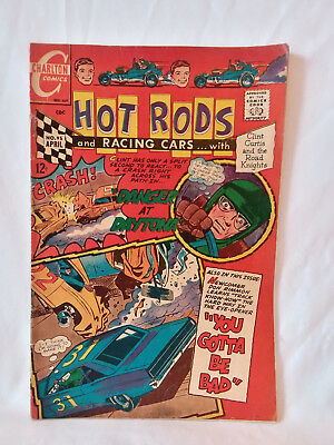 Charlton Comics 1968, Hot Rods & Racing Cars #95, GD+, vintage stock car auto ..