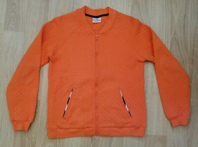 Hanna Andersson Orange Bomber Jacket Sweatshirt Girls Size EU 160 USA 14-16 Yrs